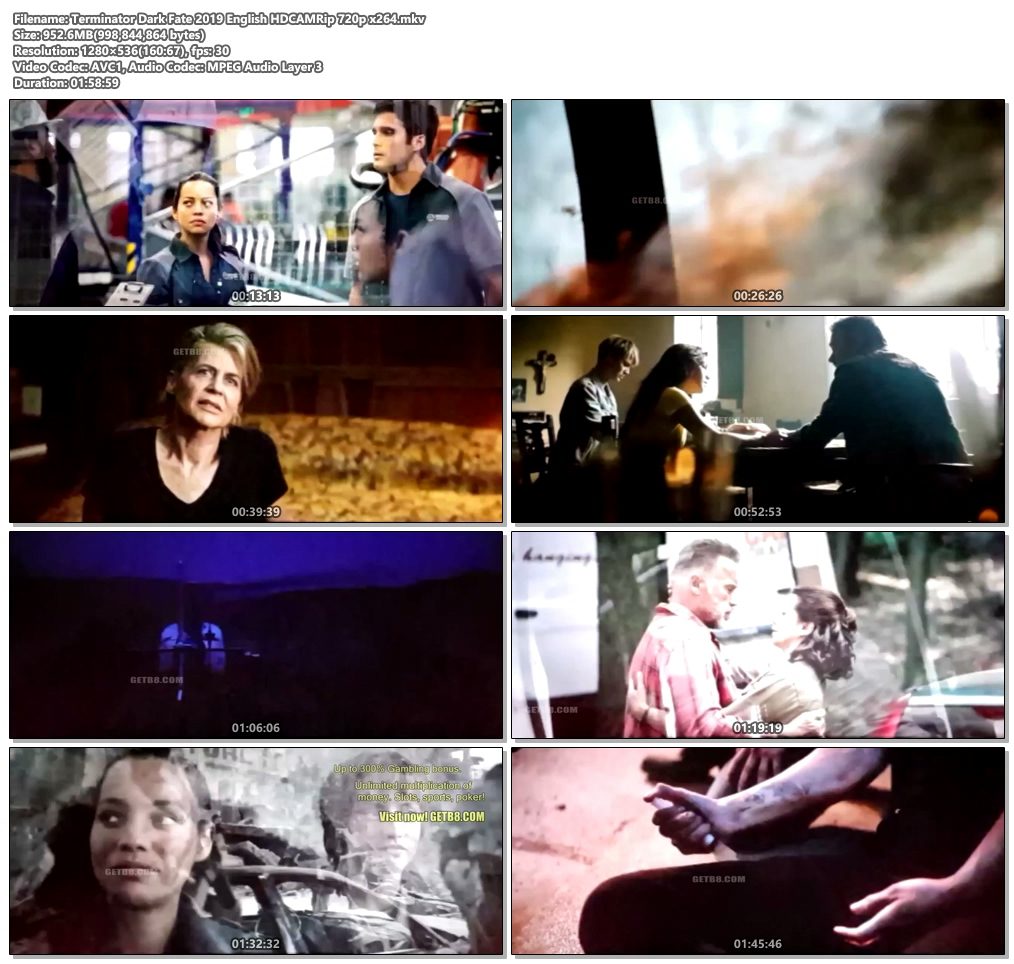 Terminator Dark Fate 2019 English HDCAM 720p x264 | 480p 300MB | 100MB HEVC Screenshot