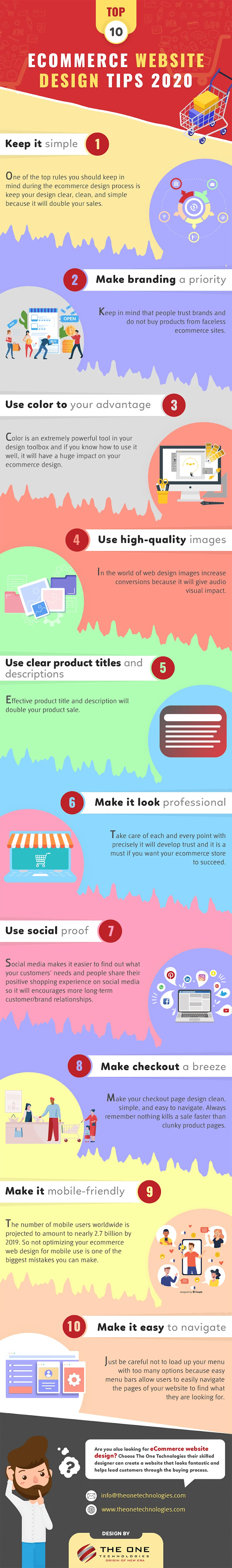 The Top 10 eCommerce Website Design Tips [Infographic]