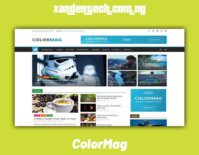 Download Free ColorMag WordPress theme