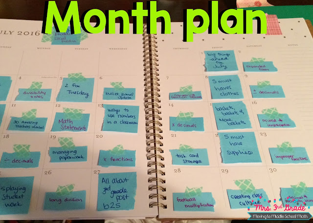Using a calendar can help you to plan out your month so that way you can set your big goals for the month before you break down the steps to reach those goals.