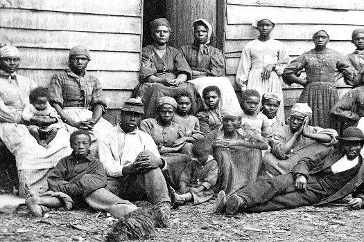African-Americans under bondage in America
