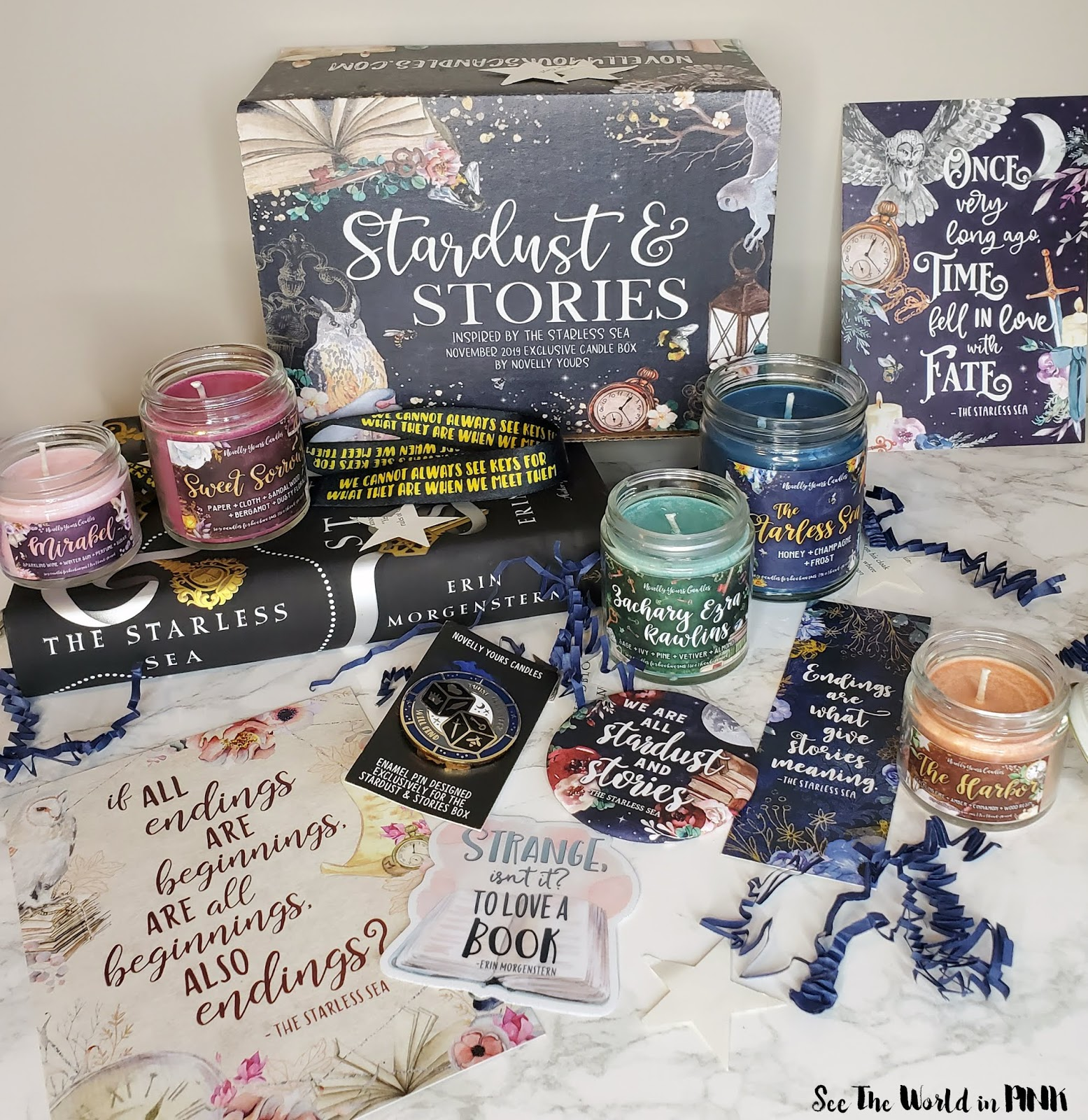 Novelly Yours Exclusive Candle Box November 2019 Stardust & Stories