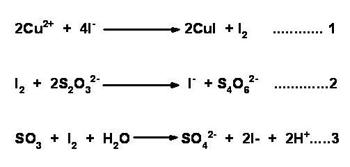 Chemistry Laboratory: IODOMETRY Key words: Iodimetry