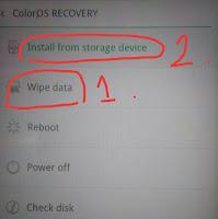 pilih wipe data