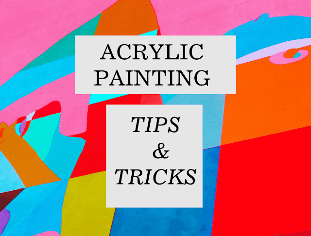 Acrylic Painting Tips for beginners and artist of all level. Tips on mixing colors, brushes, contrast, blending color, palette knife, signing artwork