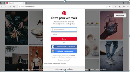 7 Passos simples para criar uma conta no Pinterest.