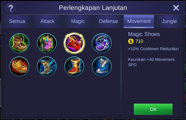 Magic Shoes Mobile Legends