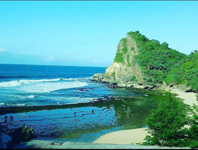 Pantai Nguyahan Gunung Kidul, Pantai mini di Jogja