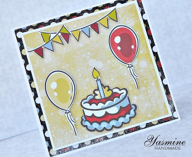 prosta kartka urodzinowa