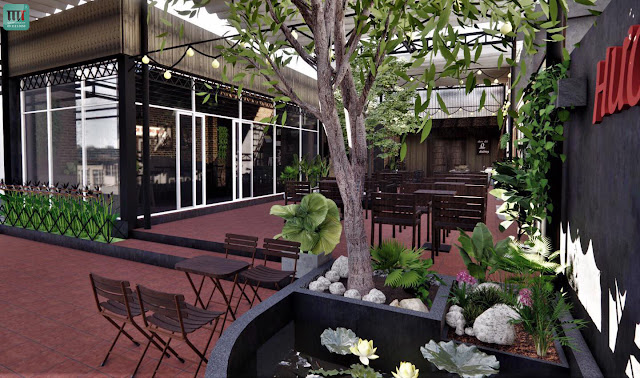 Những mẫu quán cafe sân vườn đẹp