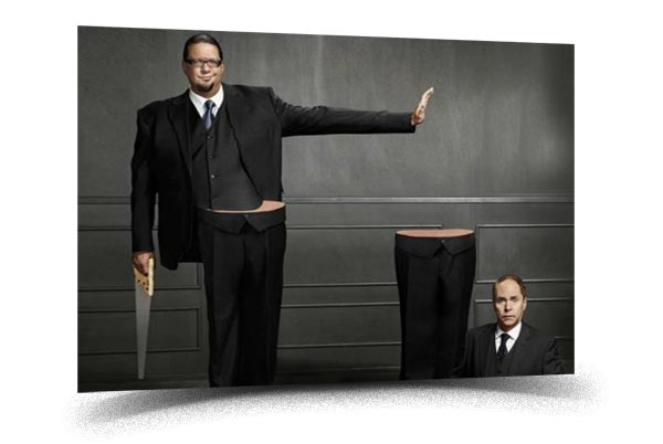 Penn and Teller - Best Magic shows in Las Vegas