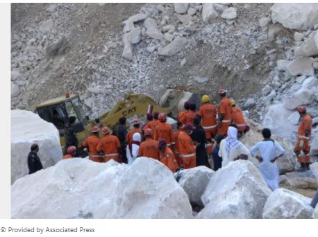 The death toll from a mine collapse in NWFP has risen to 22