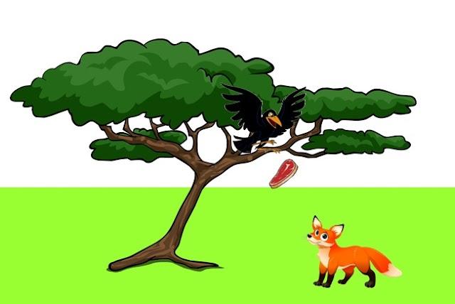 นิทานอีสป เรื่อง สุนัขจิ้งจอกกับกา (A fox and a crow)