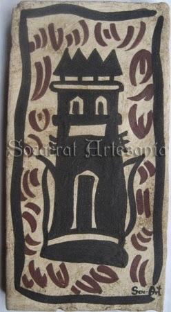 Reproducción de socarrat con Torre de Paterna hallado en una casa del siglo XIV