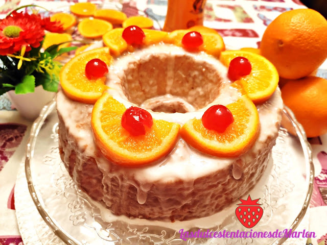 Bizcocho De Naranja Y Leche Condensada Sin Lactosa