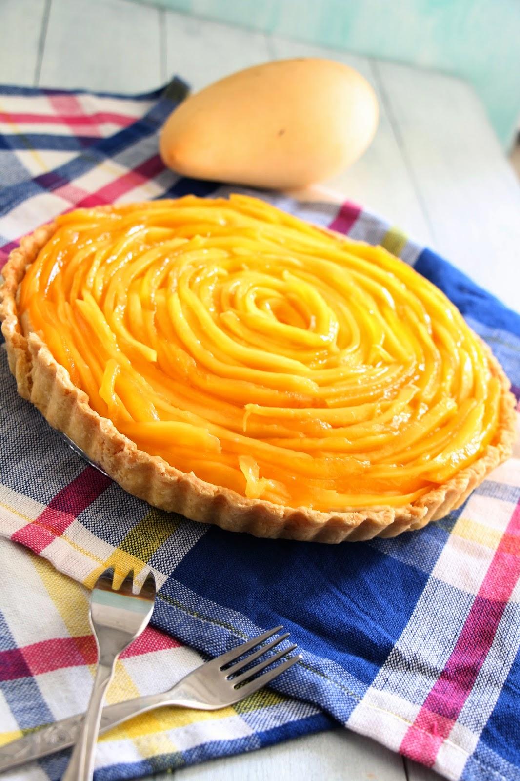 Black Baker: Mango Rose Tart