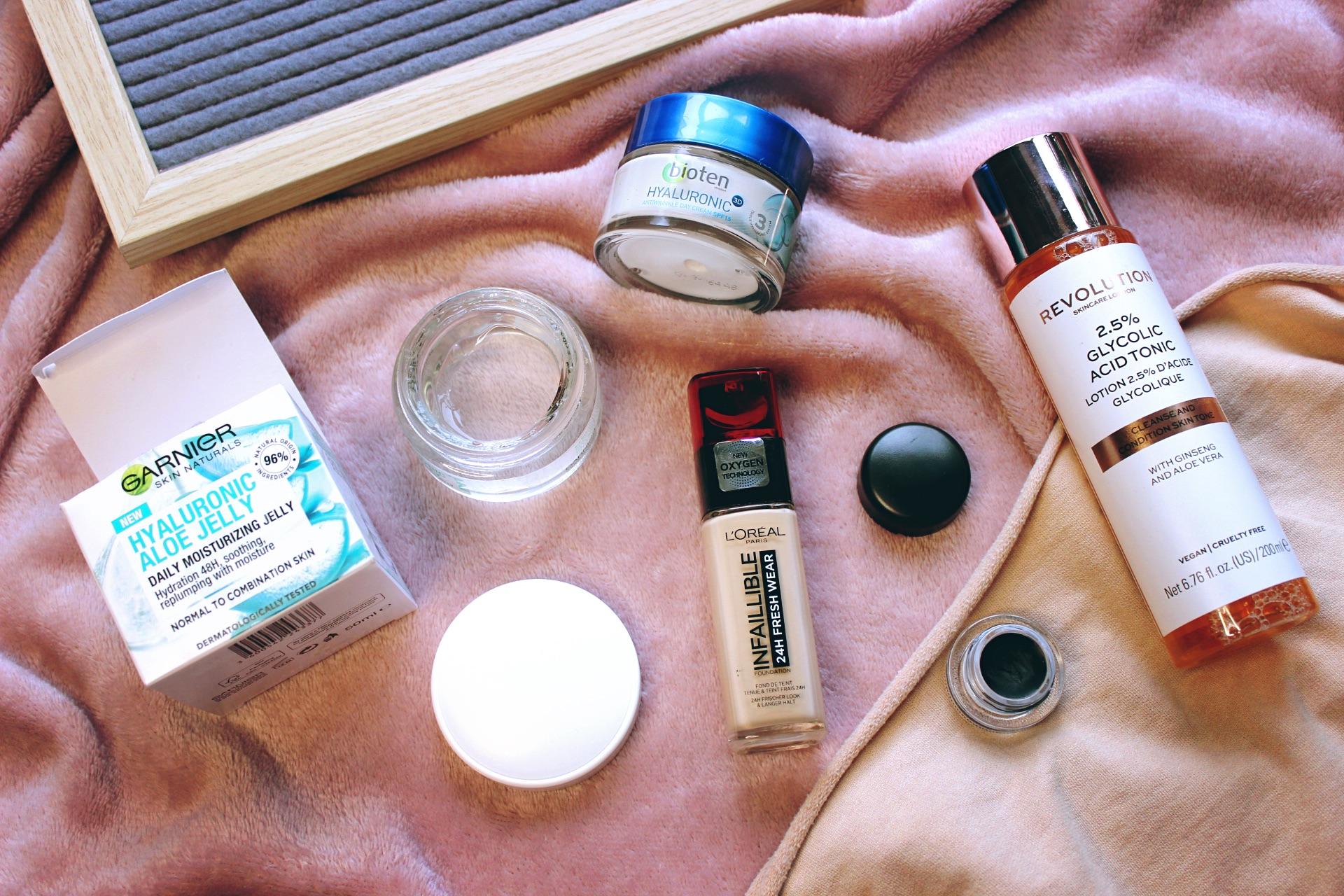 козметични продукти мнение ревю MAC Fluidline очна линия, гел за лице Garnier, Bioten Hyaluronic крем за лице, фон дьо тен L'oreal Infaillible