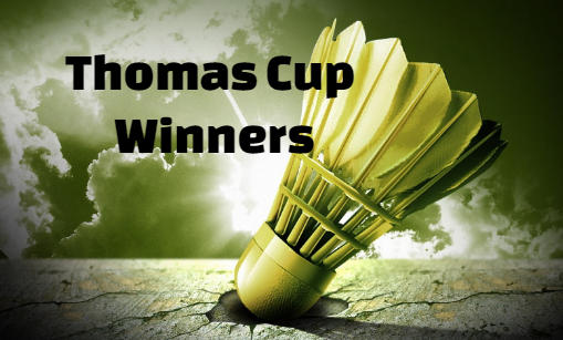 Thomas Cup, badminton, results, champions-winners, winning, country list, by Year, history.