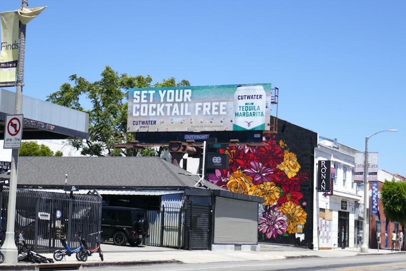 Cutwater Spirits cocktail can billboard