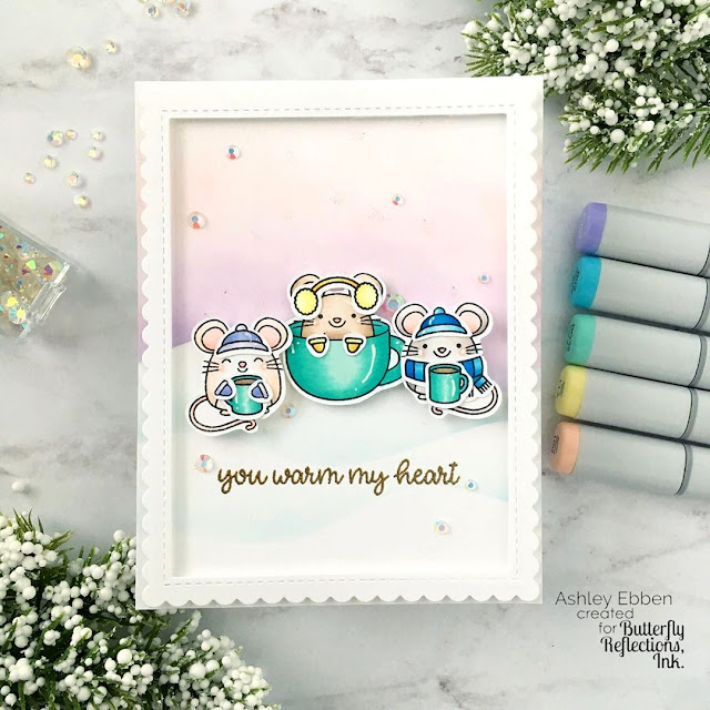 Sunny Studio Stamps: Merry Mice Customer Card by Ashley Ebben