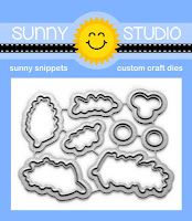 Sunny Studio Stamps: Season's Greetings Berry and Garland Metal Cutting dies to match coordinating stamp set