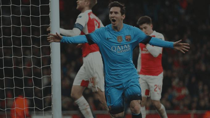 Idnfotbal - Lumbung Goal Lionel Messi ke Gawang Arsenal