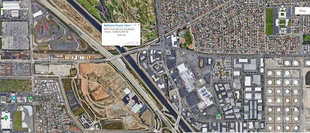 Carson drilling on landfill map