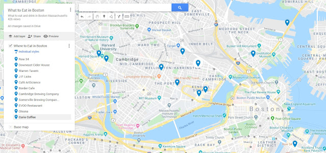 What to Eat in Boston Map