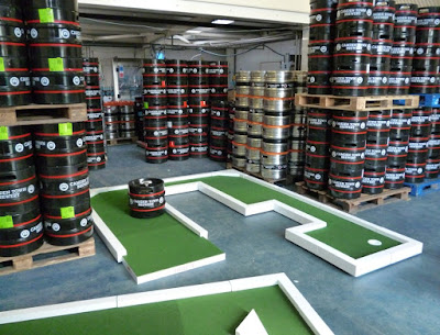 Crazy Golf at the Camden Town Brewery in London