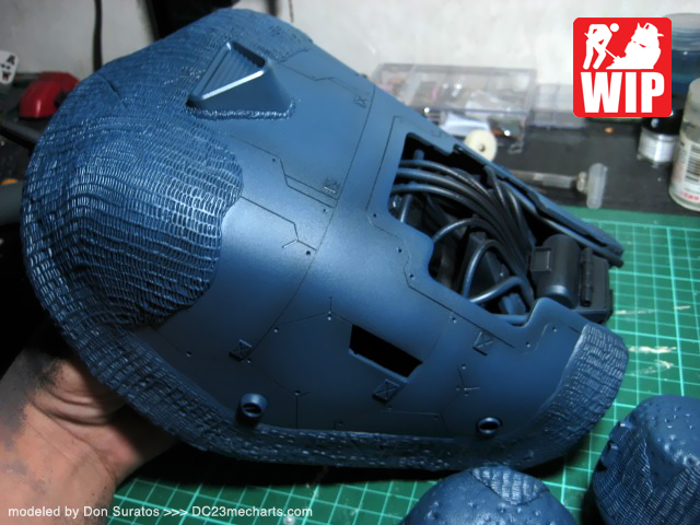 MG The O II build - base blue color painted photo