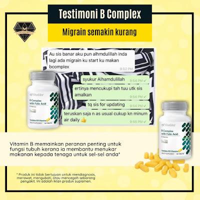 Testimoni B Complex Shaklee - Migrain Semakin Kurang Dan Hilang