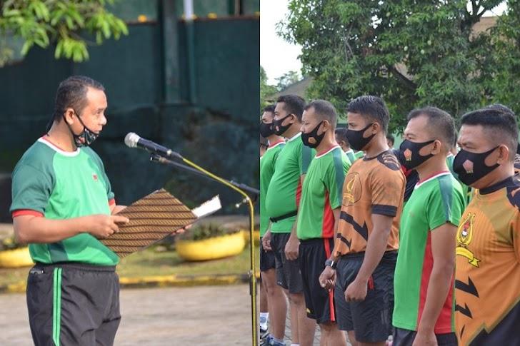 Prajurit dan PNS Korem 141/Tp, Apel Pagi Dirangkaikan Olahraga Bersama