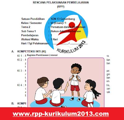 gambar rpp k13 kelas 6 tema 2 revisi 2018