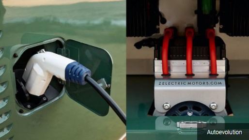 Penerapan Charger dan Tenaga listrik pada VW kombi