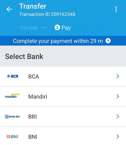 bayar traveloka pakai internet banking mandiri