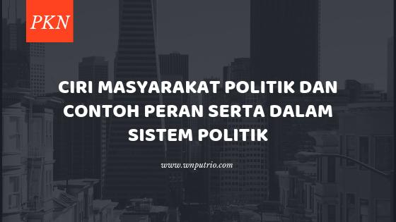 apa itu masyarakat politik