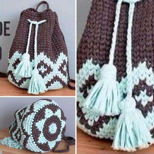 Tapestry Crochet BOHO Backpack - Tutorial