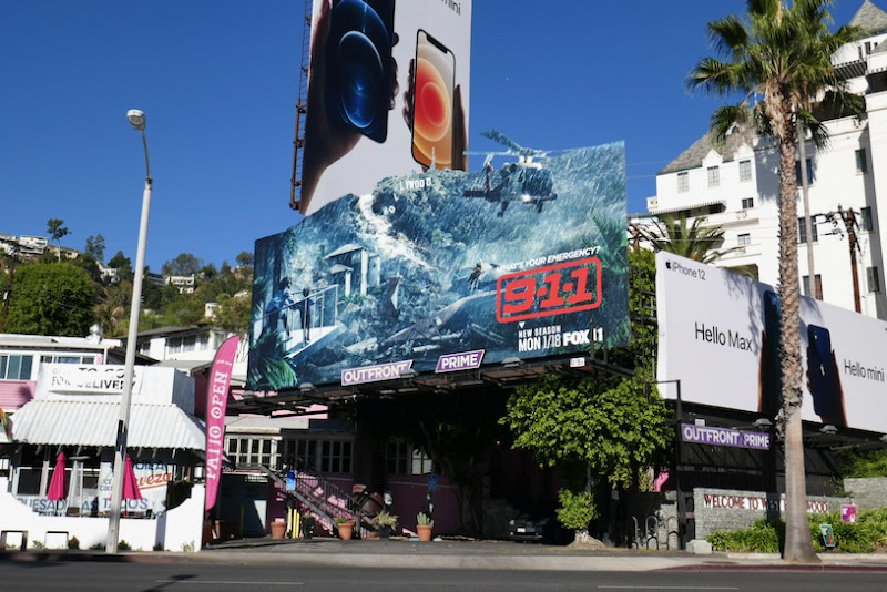 911 season 4 cut-out billboard