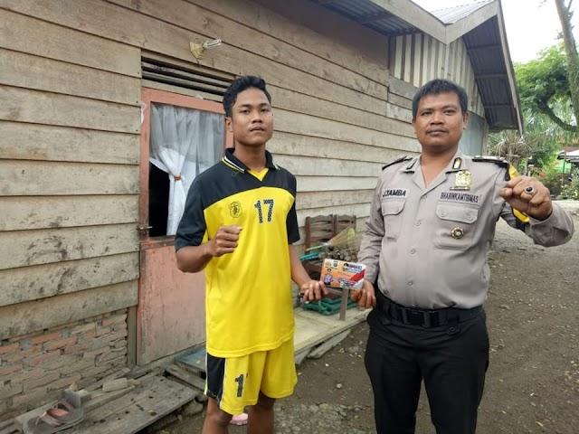Bhabinkamtibmas Kel. Beting Kuala Kapias Sambangi Warga dan Sampaikan Pesan Kamtibmas