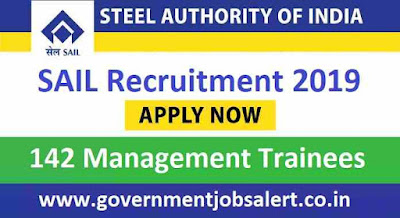 Steel Authority of India Limited SAIL Recruitment - 142 Management Trainees (Technical)