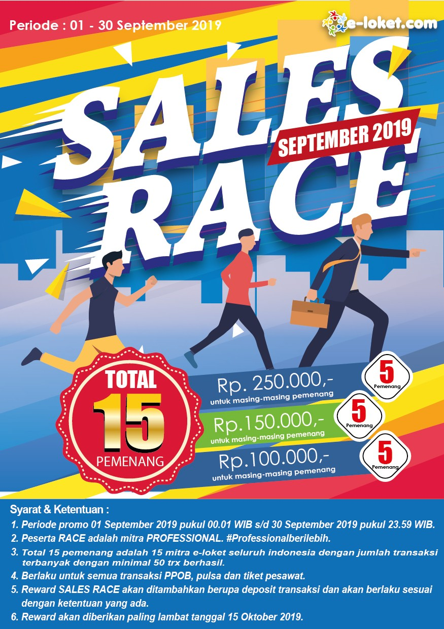 Promo E-Loket Sales Race Periode September 2019