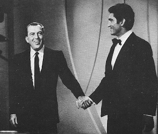 Sergio Franchi with Ed Sullivan (left), on whose show he made regular guest appearances