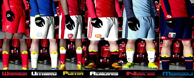 PES 2017 ShinGuard and Glove Pack dari Ade Vodkha