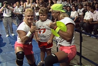 WCW / NWA Great American Bash 1989 - The Dynamic Dudes With a Really Unimpressed Fan