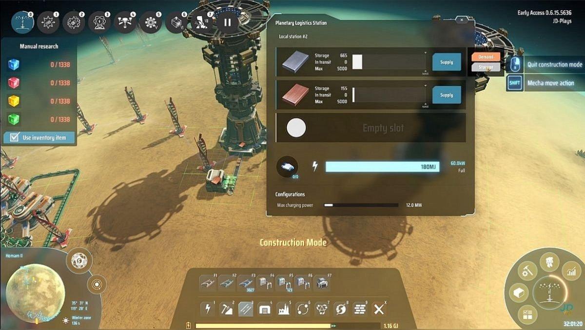 Planetary logistics