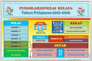 Aplikasi Pengolahan Nilai Kelas 6 2015/2016