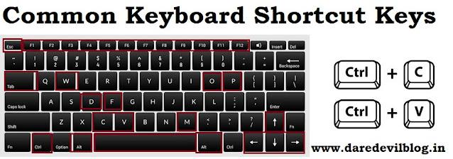 Common Keyboard shortcut Keys
