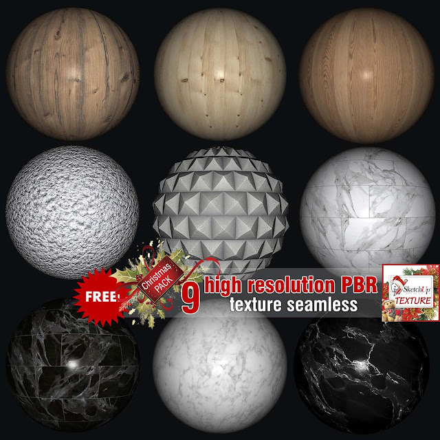 sketchup texture seamless free pack Christmas 2019