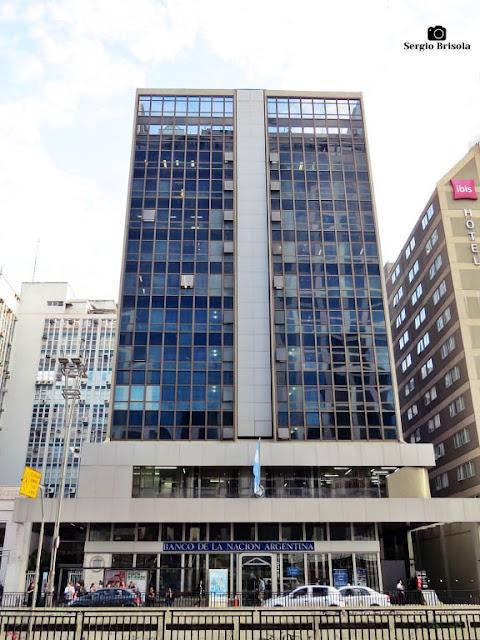 Vista ampla do Banco de la Nacion Argentina - Cerqueira César - São Paulo