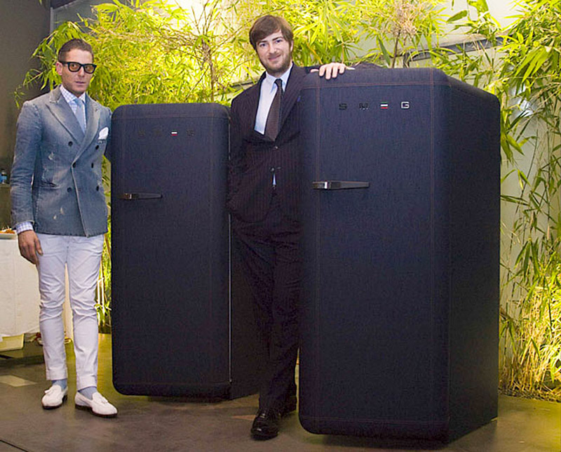 SMEG FAB28 Jeans Refrigerator at if it's hip, it's here